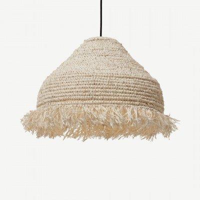 MADE.COM Danae gehaakte lampenkamp, palmblad