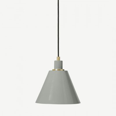MADE.COM Testa badkamer hanglamp, geborsteld messing en houtskoolgrijs