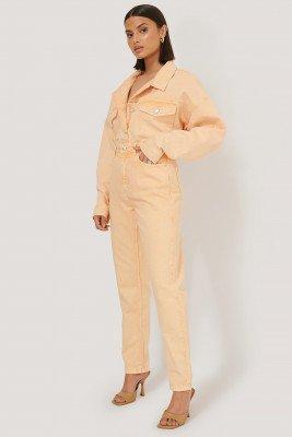 NA-KD Trend NA-KD Trend Mom Jeans Met Hoge Taille - Orange