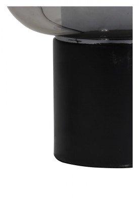 vtwonen vtwonen Tafellamp 'Arturan', glas smoke grijs+mat zwart, kleur