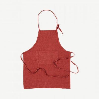 MADE.COM Original Home keukenschort van 100% gerecycled katoen, rood