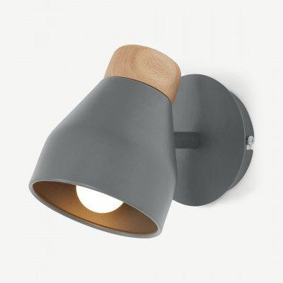 MADE.COM Albert wandlamp, houtskoolgrijs