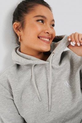 Calvin Klein Calvin Klein Hoodie Met Borduurwerk - Grey
