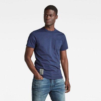 G-Star RAW Stitch Detail Pocket T-Shirt - Donkerblauw - Heren