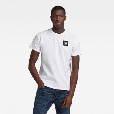 G-Star RAW Badge Logo T-Shirt - Wit - Heren