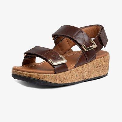 FitFlop FitFlop Remi Adjustable Back-Strap sandalen bruin