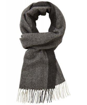 Profuomo Profuomo heren grijze wollen sjaal