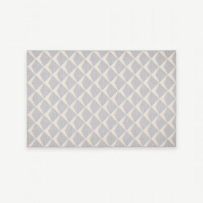 MADE.COM Asbury geweven vloerkleed, 160 x 230cm, grijs