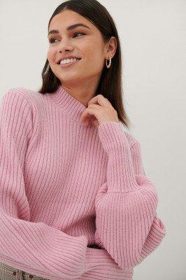 Paola Locatelli x NA-KD Gerecycleerd Gebreide Trui - Pink