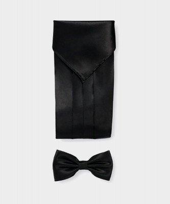 Michaelis Michaelis heren polyester cumberband set zwart