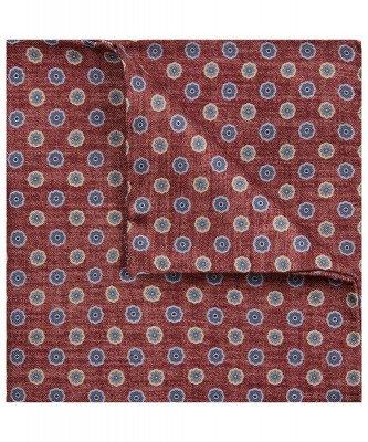 Profuomo Profuomo heren rood zijden print pochet