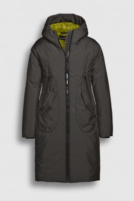 Creenstone Creenstone Technical coat with rounded pocket detail - Dark Pine
