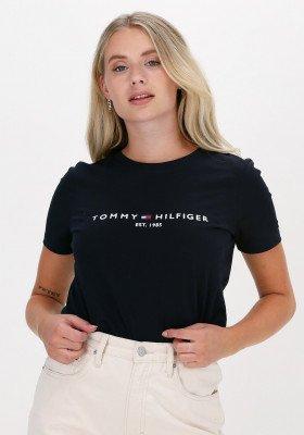 Tommy Hilfiger Donkerblauwe Tommy Hilfiger T-shirt Heritage Hilfiger C-nk Reg Tee