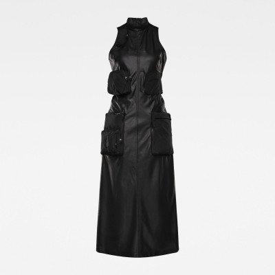G-Star RAW E Multipocket Maxi Dress - Zwart - Dames