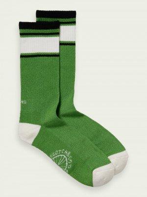 Scotch en Soda Scotch & Soda Geribbelde sokken van een bamboemix