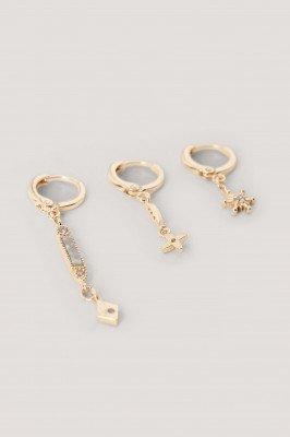 NA-KD Accessories Oorbellenset - Gold
