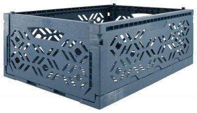 HEMA HEMA Klapkrat Recycled 30x40x15 - Donkerblauw