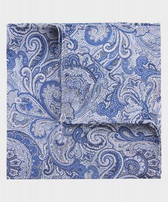 Michaelis Michaelis heren paisley zijden pochet blauw