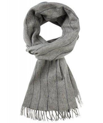 Profuomo Profuomo heren grijs gestreepte sjaal
