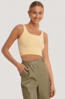 NA-KD Basic NA-KD Basic Basic Cropped Hemdje - Yellow