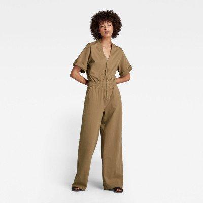G-Star RAW Blouse Jumpsuit - Beige - Dames