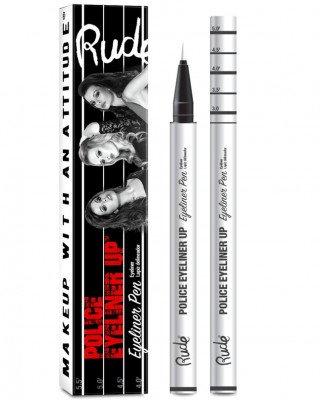 Rude Cosmetics Rude Cosmetics Police Eyeliner Pen Top Dog White Rude Cosmetics - RUDE COSMETICS Eyeliner