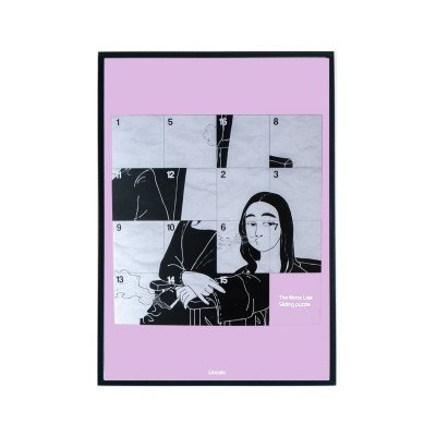 Llocals Llocals Mona Lisa Sliding Puzzle Poster Roze