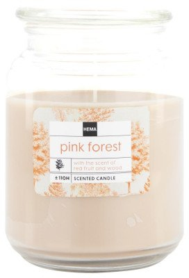 HEMA Geurkaars In Glazen Pot Ø10x14 Pink Forest (terra)