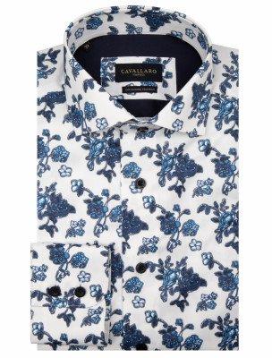 Cavallaro Napoli Cavallaro Napoli Heren Overhemd - Cinci Overhemd - Blauw