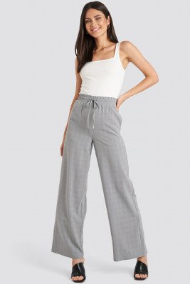NA-KD Classic NA-KD Classic Plaid Relaxed Suit Pants - Grey