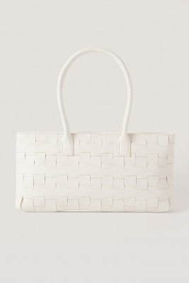 NA-KD Accessories Braided Shoulder Bag - White