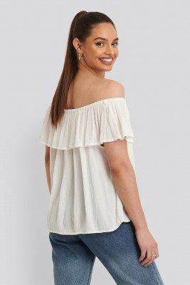 Sparkz Off-Shoulder Top - Offwhite