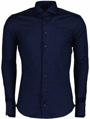 Cavallaro Napoli Cavallaro Napoli Heren Overhemd - Bando overhemd - Donkerblauw