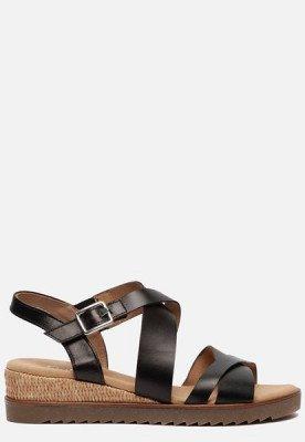 Gabor Gabor Comfort sandalen met sleehak zwart