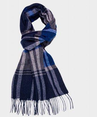 Michaelis Michaelis heren klassieke geweven sjaal blauw