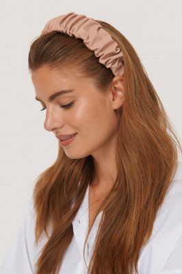 NA-KD Accessories Pu-Haarband Met Ruches - Pink