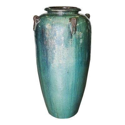 Ptmd izze blauw geglazuurde keramieke extreme pot