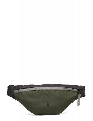 Rains Rains Color Block Bum Bag Mini Green/Black