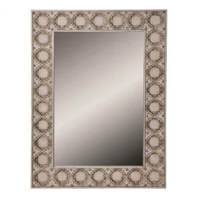 Firawonen.nl PTMD cyrus antiek rechthoekige houten spiegel wit