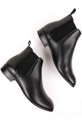 Will's Vegan Store Will's Vegan Store unisex vegan Chelsea Boots Zwart Zwart 40 Gerecycled rubber/Microfibre (micronappa, microsuède)/PU