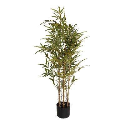 Firawonen.nl PTMD Tree green bamboo tree in black plastic pot s