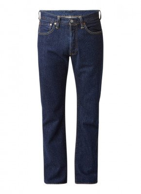 Levi's Levi's 501 high rise straight fit jeans in donkere wassing