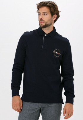 Tommy Hilfiger Donkerblauwe Tommy Hilfiger Polo Icon Rugby