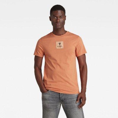 G-Star RAW Center Logo Badge T-Shirt - Roze - Heren