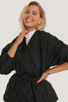 NA-KD Trend NA-KD Trend Gequilt Kimonojack - Black