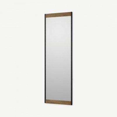 MADE.COM Maxine spiegel, 40 x 120 cm, mangohout en zwart