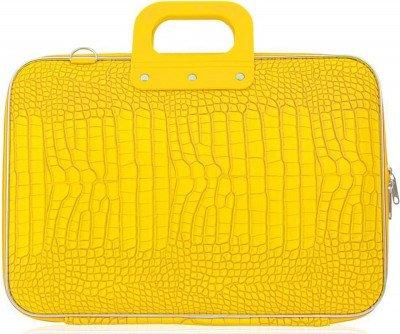 Bombata Bombata Croco 17 inch Hardcase Laptoptas Yellow
