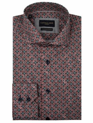 Cavallaro Napoli Cavallaro Napoli Heren Overhemd - Renzo Overhemd - Rood