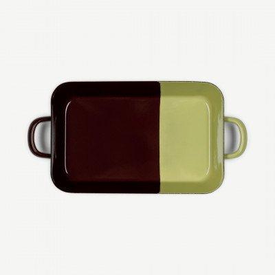 MADE.COM Riess braadpan van geemailleerd porselein, chocolade en pistache