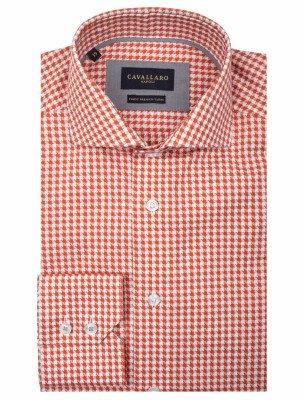 Cavallaro Napoli Cavallaro Napoli Heren Overhemd - Zodio Overhemd - Oranje